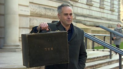 Green Party co-leader Jonathan Bartley hold briefcase outside Whitehall