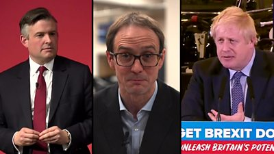 Jonathan Ashworth, Chris Mason and Boris Johnson
