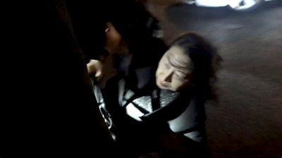 Teresa Cheng falls to the floor