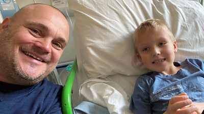 Al Murray and his nephew Finlay