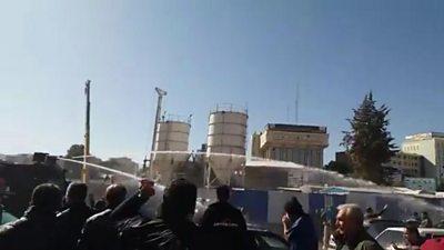 Protesters in Iran's Kermanshah city