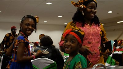 Igbo family at a party