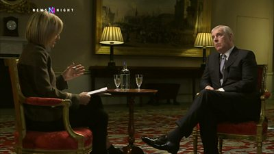 Prince Andrew and Emily Maitlis