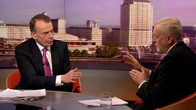 Jeremy Corbyn and Andrew Marr