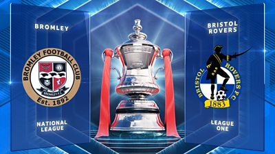 FA Cup: Bromley 0-1 Bristol Rovers highlights