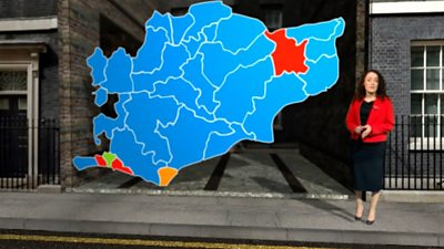 Election map of the South East