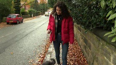 Megan walking her dog