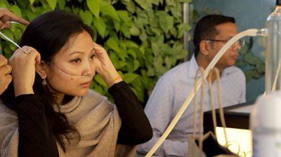 A woman in Delhi's Oxy Bar