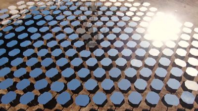 Mirrors collecting solar energy
