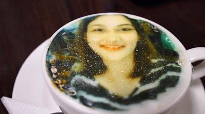 A selfie on a coffee