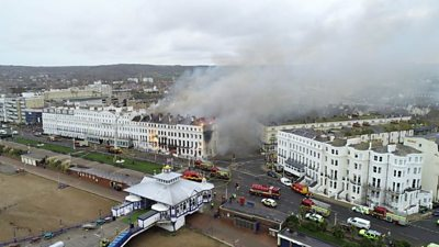 Fire at Claremont Hotel