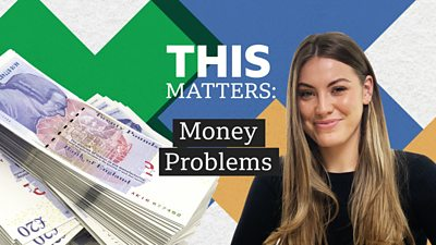 Presenter Julia Belle with title This Matters: Money Problems
