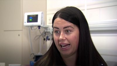 Amanda White, 29, travelled to Turkey for a breast reduction earlier this month.
