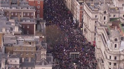 Camopaigners marching through London