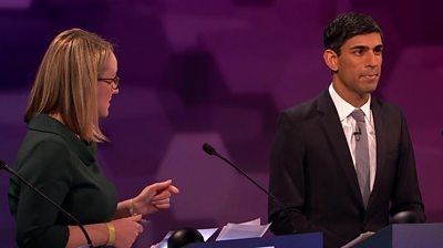 Labour's Rebecca Long-Bailey and Conservative Rishi Sunak argue over their spending promises.