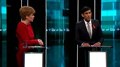 Nicola Sturgeon and Rishi Sunak