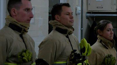 Former cricketer Geraint Jones becomes a firefighter