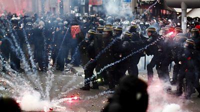 clash in Paris