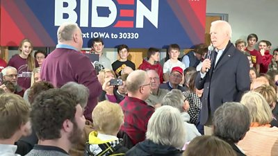 Joe Biden in an angry exchange with an Iowa resident