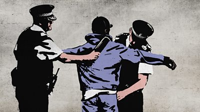 Spray paint of stop and search