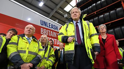 Boris Johnson on the campaign trail