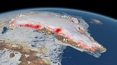 Most of Greenland's ice loss is happening in coastal regions.
