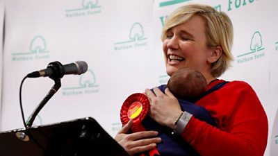 Stella Creasy with baby