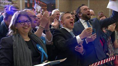 Conservatives celebrate in Blyth Valley