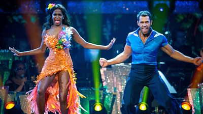 Kelvin Fletcher with Oti Mabuse during the live Strictly Come Dancing final on 14 December 2019