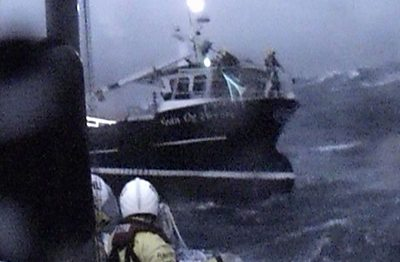 Five fishermen were rescued by the RNLI