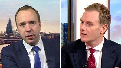Composite image of Matt Hancock and Dan Walker