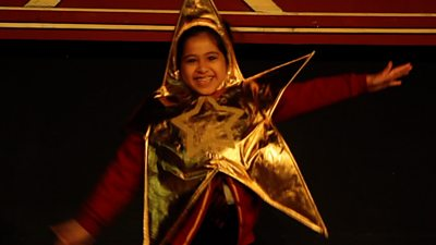 A pupil in the school nativity