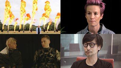 Flames, Megan Rapinoe, Iceland band Hatari and Hideo Kojima