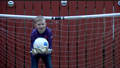 Football-mad Kai Evitt was born with a condition called ectrodactyly - which means he is missing some fingers and toes.