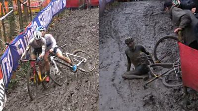 Watch: Mud causes chaos at Cyclo-cross World Cup