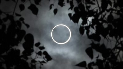 The ring of fire eclipse