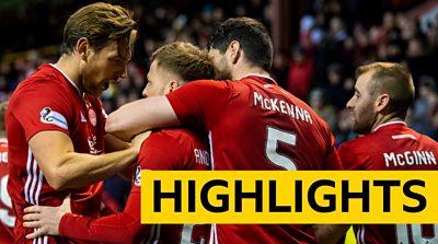 Highlights: Aberdeen 2-1 Livingston