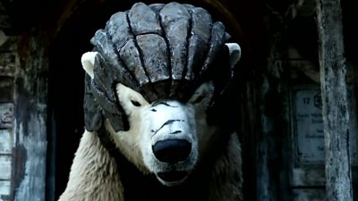 Image of a bear in His Dark Materials