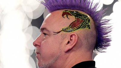 Peter Wright credits his family and hairdo for his first PDC World Championship title.