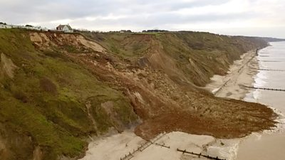 Collapsed cliff in Norfolk
