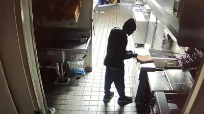 A Georgia man who broke into a Taco Bell overnight paused to make himself some food and take a nap.