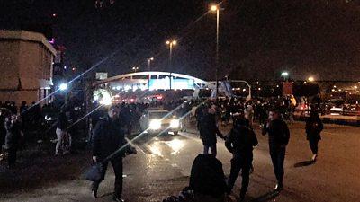 Anti-government protesters in Azadi Square, Tehran