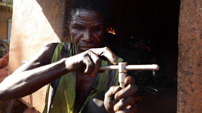 Blind mechanic Emeka Abugu