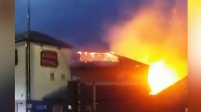 Perry Barr restaurant fire lights up sky