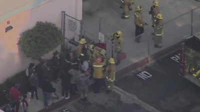 Emergency services at the Los Angeles school