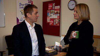 Laura Kuenssberg speaks to former Labour MP James Frith.