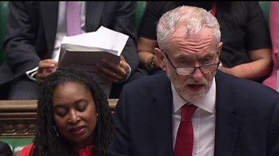 Jeremy Corbyn at PMQs