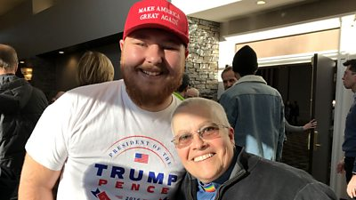 "How a ""big hairy Trump guy"" and a ""queer individual"" bonded at a rally for the Democrats in New Hampshire."
