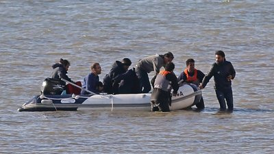 "Migrants trying to reach the UK from France via boats are using ""surge tactics"" to increase their chances of getting past patrols, the National Crime Agency says."