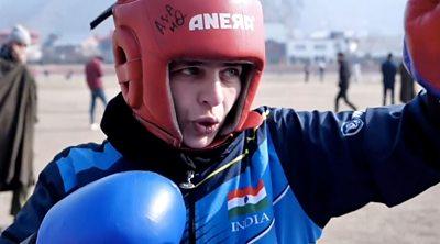 Abida Akhtar in training
